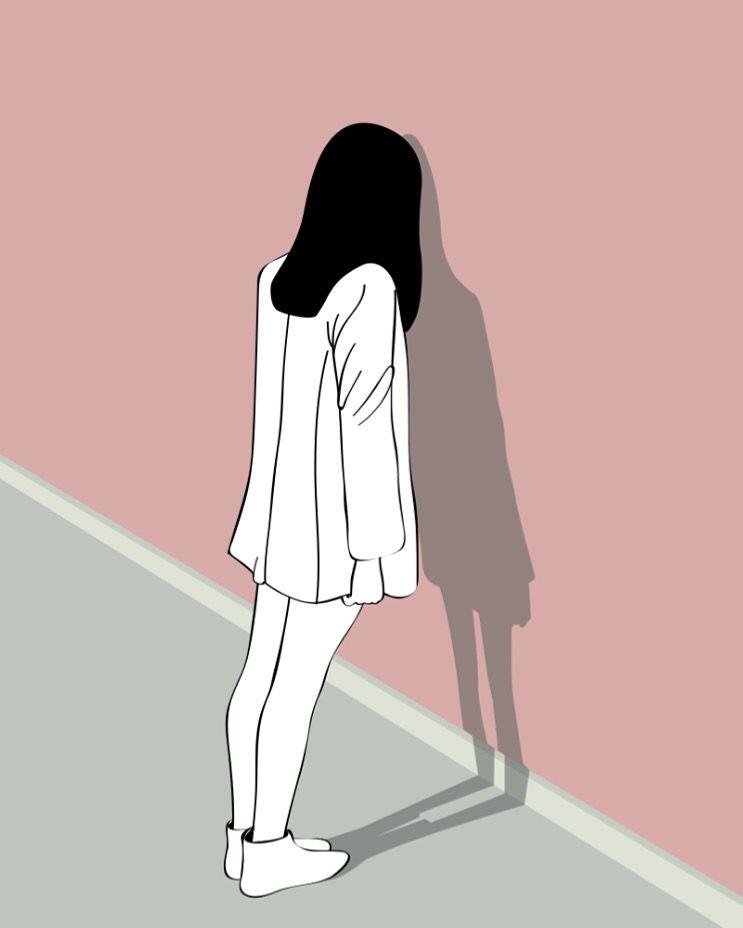 Pin Oleh Luthfiyya Di Illustration Gambar Ilustrasi Gambar Potret
