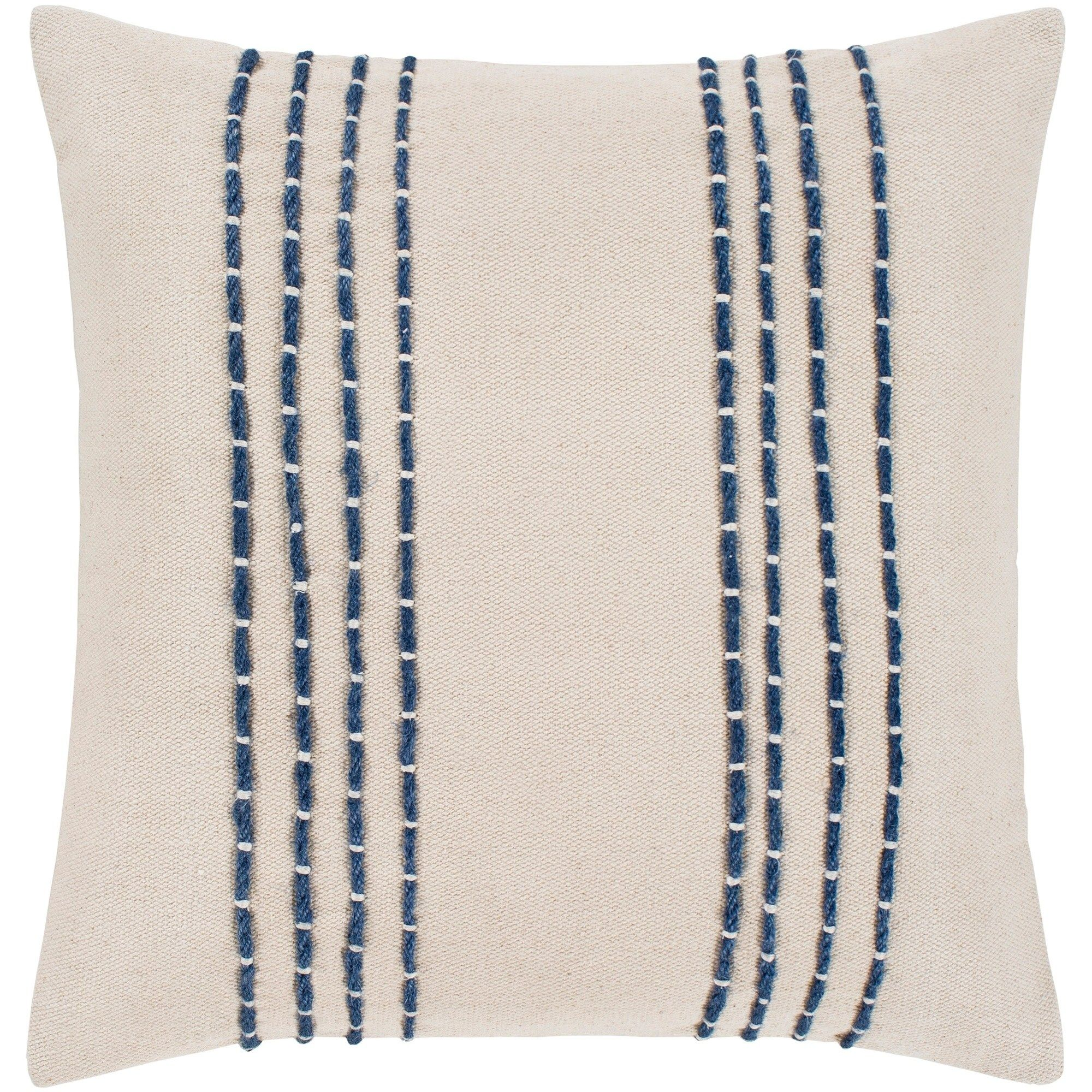 Striped Cotton Throw Pillow With