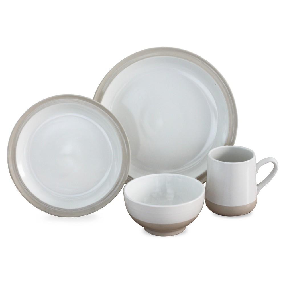 16pc Grayden White Dinnerware Set Off White  sc 1 st  Pinterest & Baum Bros. 16pc Grayden White Dinnerware Set Off White   Products