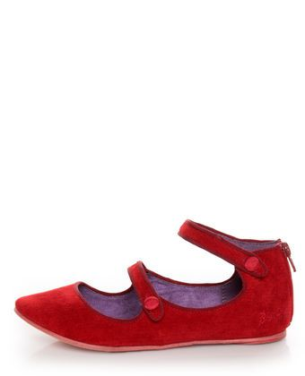 Blowfish Neo Red Corduroy Double Mary Jane Ballet Flats. Picked these up in silver but wish they had the red!