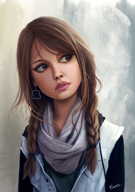 Рисовать девушку картинки