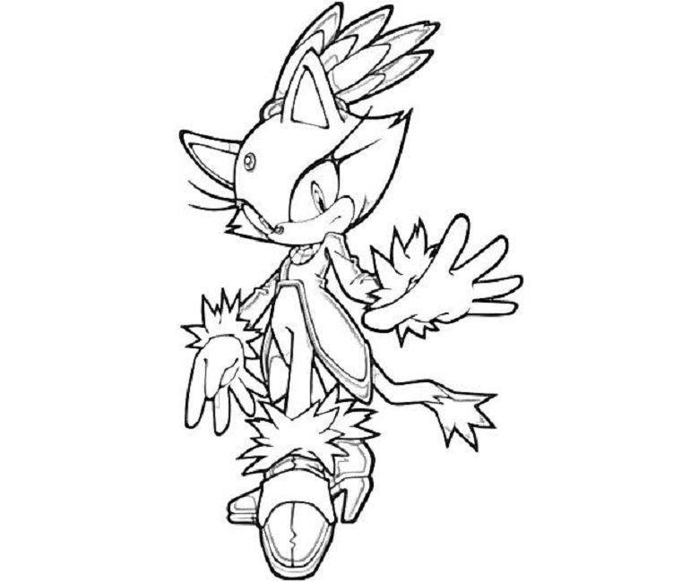 sonic coloring pages blaze Cartoon Pinterest