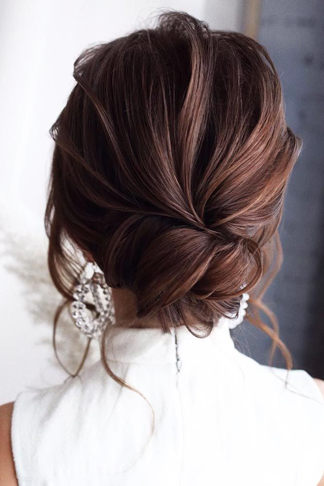 #updo #buns ️ These easy hairstyles for long hair take 10 minutes to recreate and are appropriate for any kind of a Valentines day date. You will love these ideas. ️ #lovehairstyles #hair #hairstyles #haircuts #Romantic #Wavy #Low Romantic Wavy Low Buns