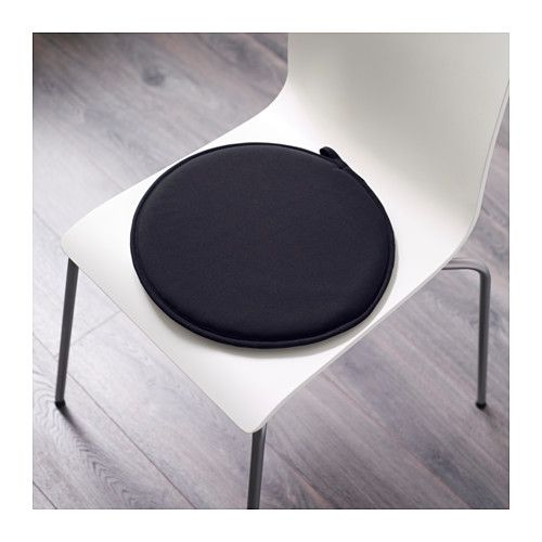 Cilla Coussin De Chaise Noir 13 34 Cm Coussin Chaise Chaise Noire Ikea