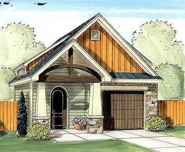 Plan 62572dj Craftsman Garage With Man Door Small Cottage Plans Cottage Plan House Exterior