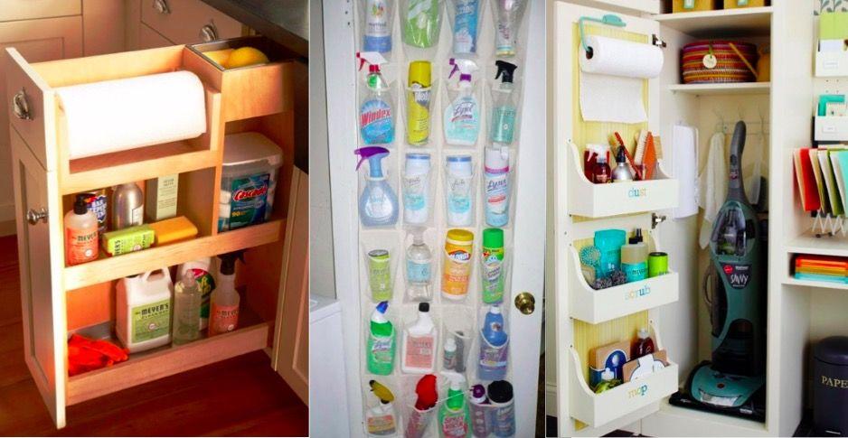 13 idées de rangement et d'organisation pour vos produits ménagers | Idee rangement, Produit ...