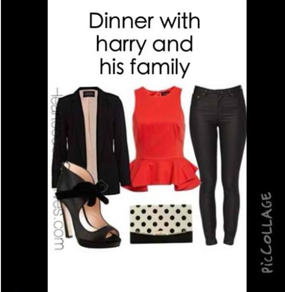 Dinner with harry and his family