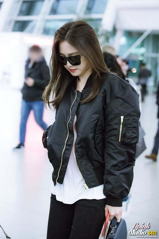 Apink Naeun Airport Fashion | Official Korean Fashion | My Style di 2019 | Fashion ...