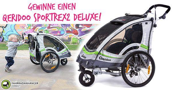 Qeridoo Sportrex 2 Deluxe Im Test Kinderfahrradanhanger Mit Top