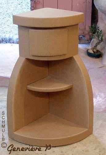 meuble de coin construit en carton