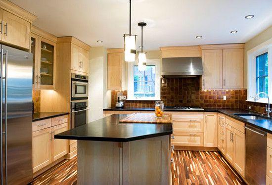 natural maple kitchen cabinets dark counter maple kitchen cabinets