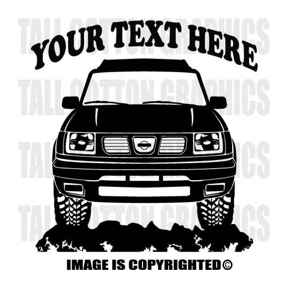 Nissan Frontier D22 1997 1998 1999 2000 4x4 Off Road Personalized Vinyl Decal Or040 Coches Tuneados Vinilos Coches