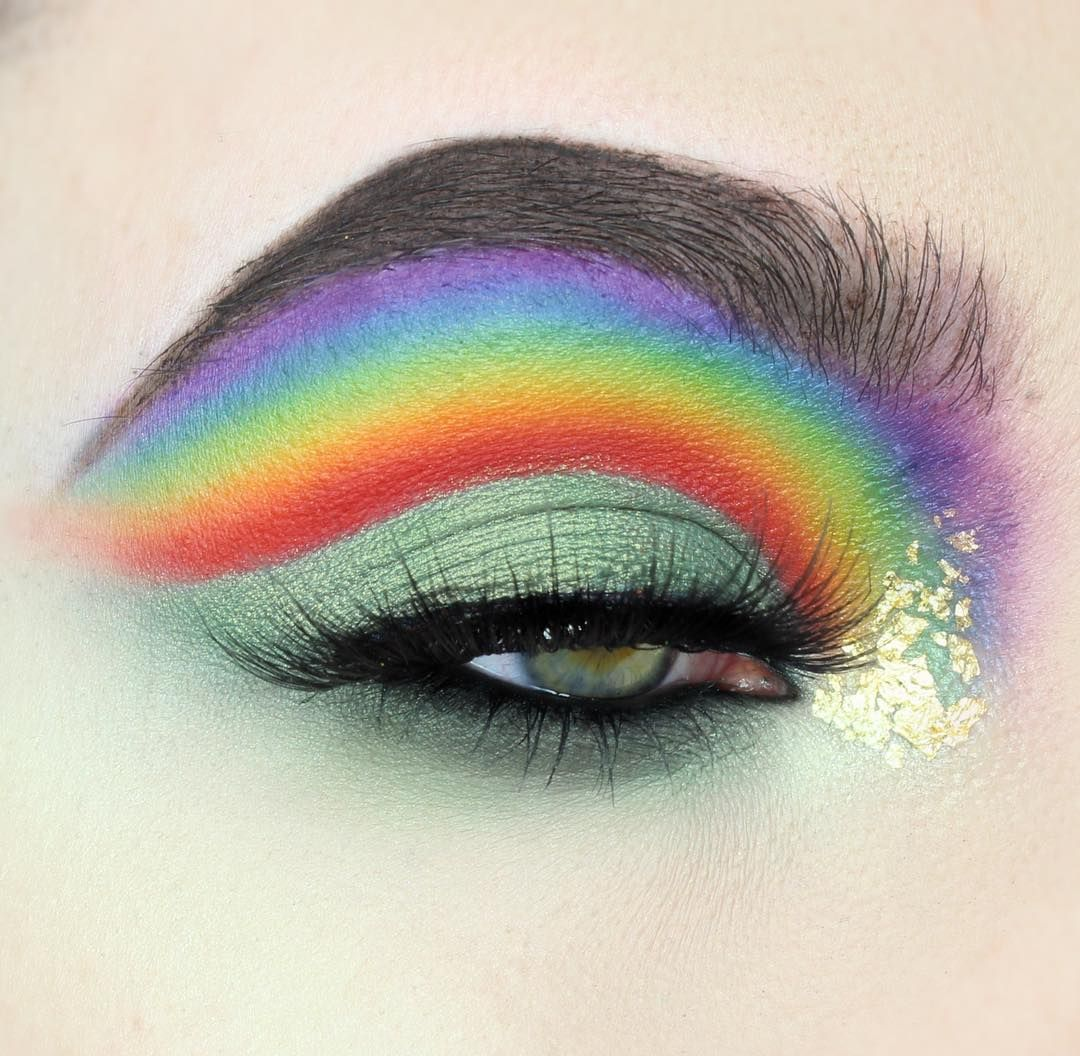 """549 Likes, 35 Comments - ✖️ TESSA ✖️ (@tesseffects) on Instagram: """"Pot of gold at the end of the rainbow 🌈🌟💚 I used:  @anastasiabeverlyhills Dip Brow in Ebony and…"""""""