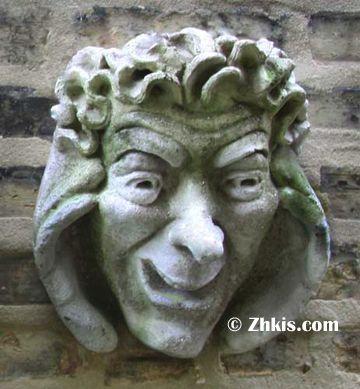 Listening Old Man Face Wall Plaque Wall Sculpture Art Gargoyles Statue