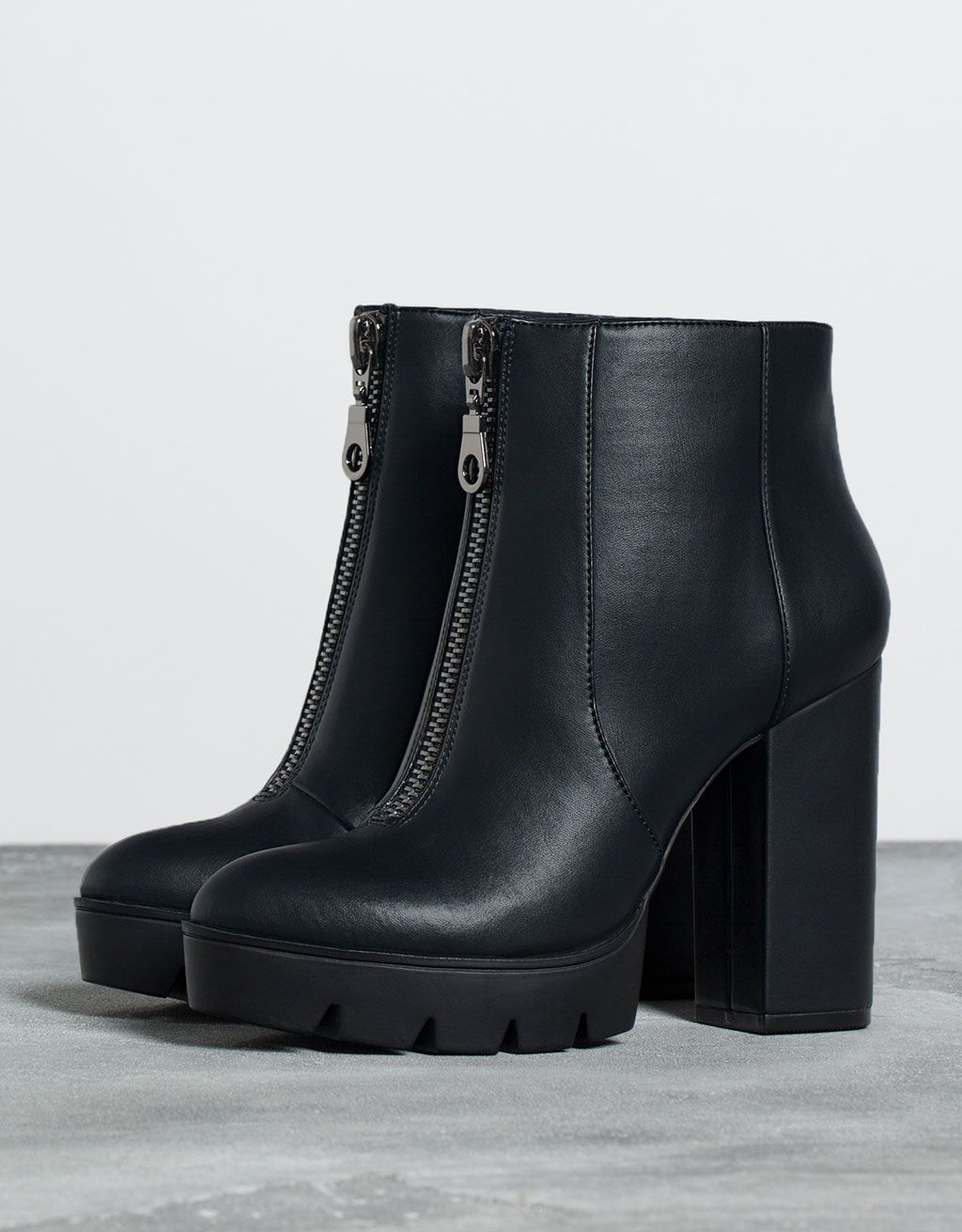 heeled zipper ankle boots - Shoes - Bershka Switzerland