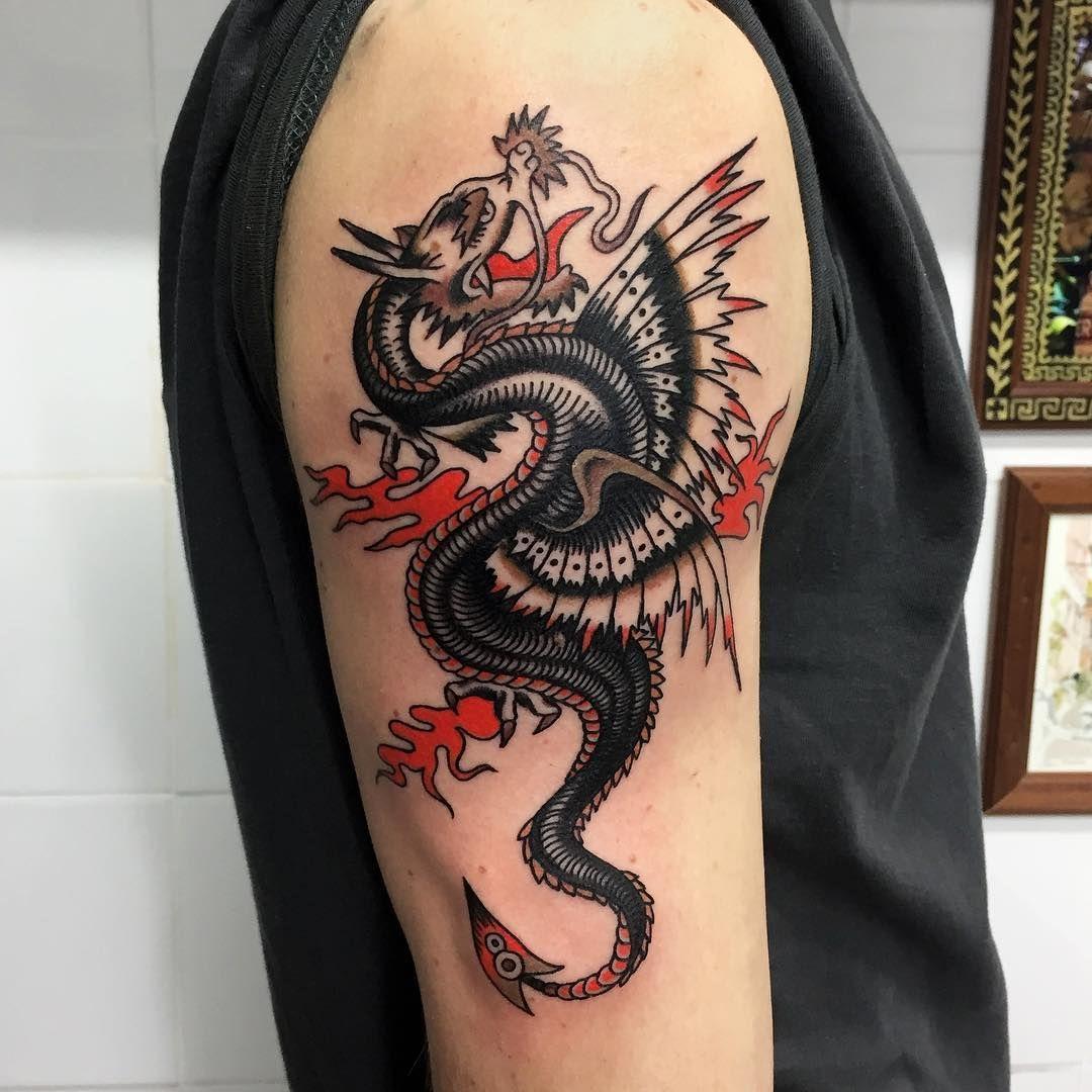 Done Hard Work Tattoo Roma Thanks Skateanddestroy Next Date Dragones Tribales Tatuajes Dragones Tatuajes De Dragon Tribal