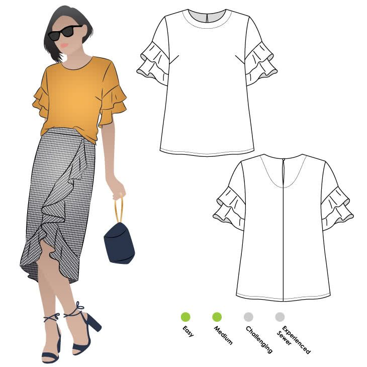 Harmony Woven Top Sewing Pattern By Style Arc | Creativity ...