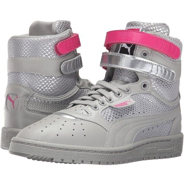 PUMA Sky II High Future Minimal (Drizzle) Women s Shoes ( 85) ❤ liked on  Polyvore featuring shoes 7caaedaab