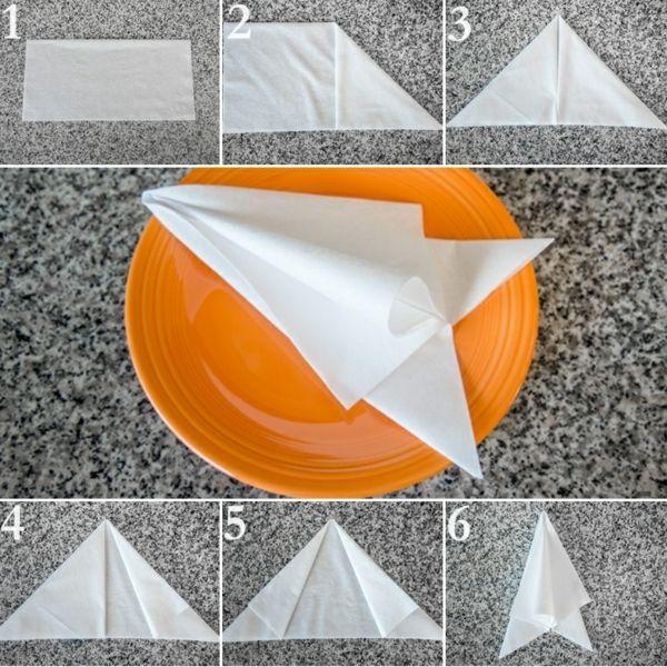 Papierservietten Falten Anleitung Festliche Tischedeko