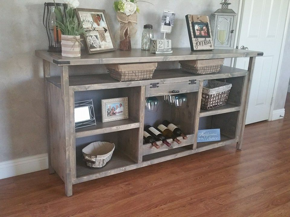 Custom sideboard complete with wine glass rack, wine holder, shelves and more Custom, furniture
