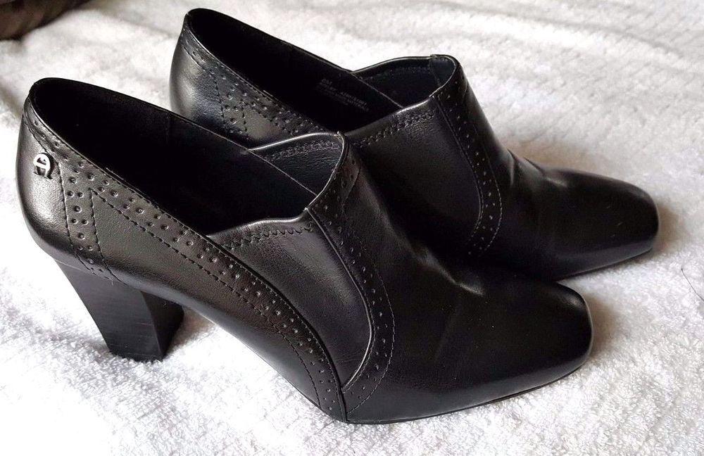 Oxford Heel Shoe Shootie Ankle Boot Etienne Aigner Womens