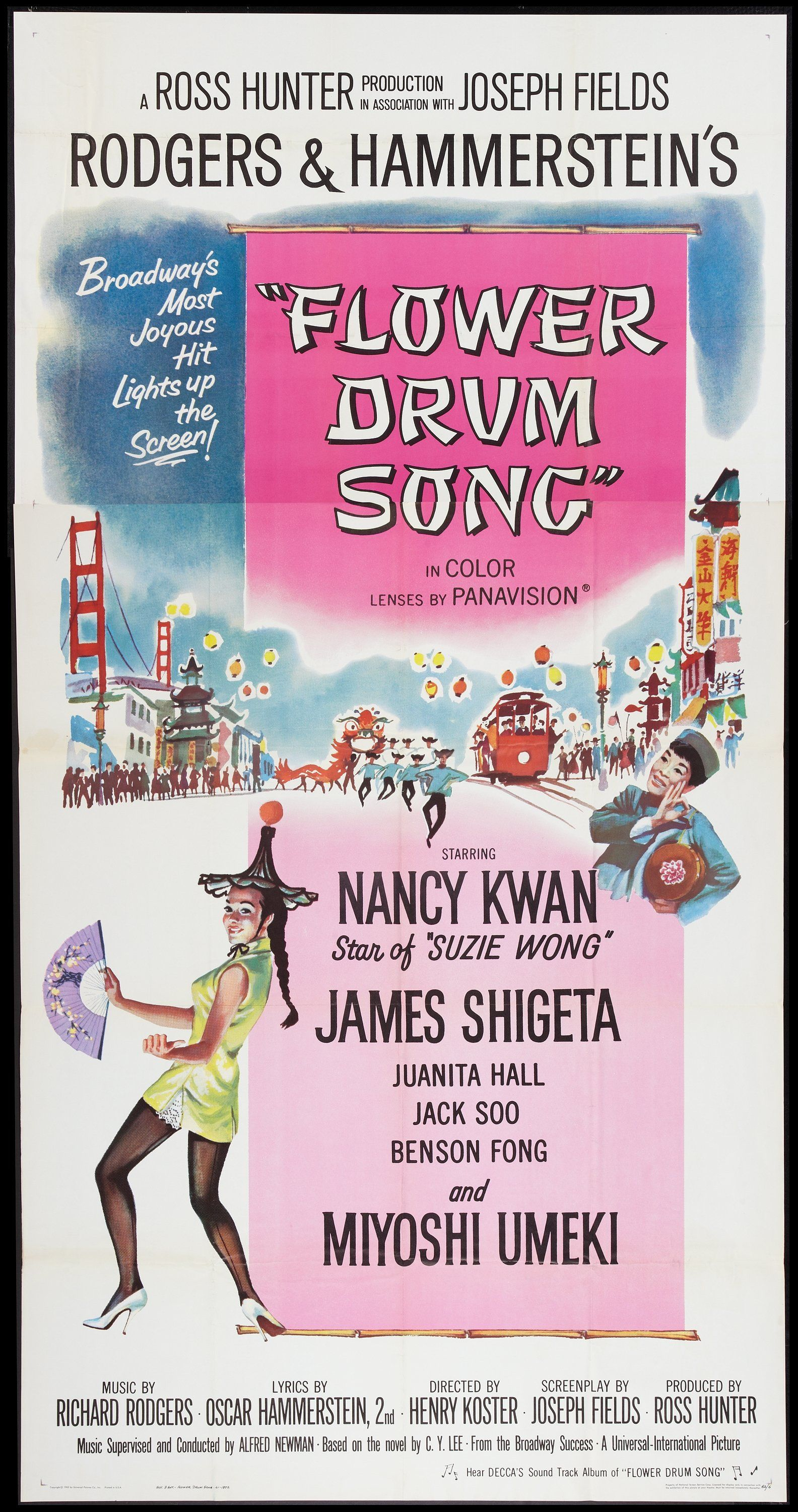 Flower Drum Song (1961) Stars Nancy Kwan, James Shigeta