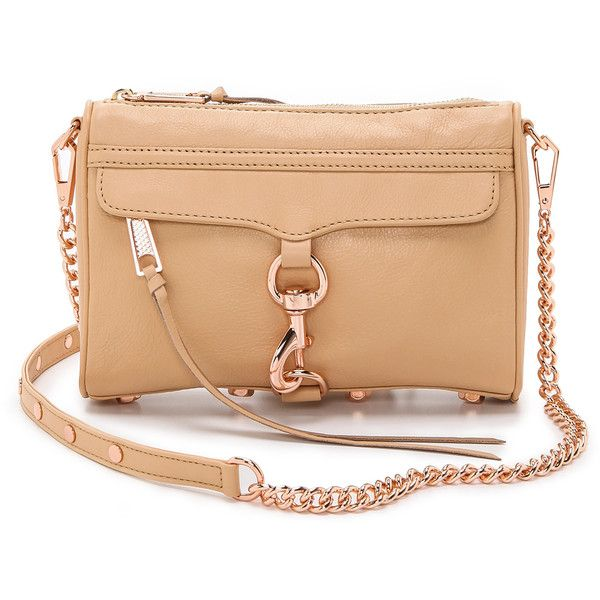 256de4467a Rebecca Minkoff Mini Mac Bag - Biscuit/Rose Gold found on Polyvore  featuring polyvore, fashion, bags, handbags, shoulder bags, sac, leather  shoulder ...