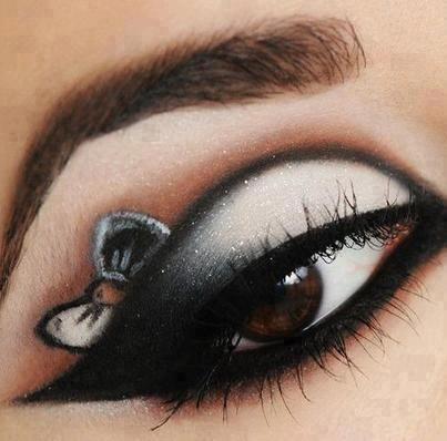 Bow Eyeshadow Bow Eyeshadow We Heart It Eye Makeup Makeup Creative Makeup