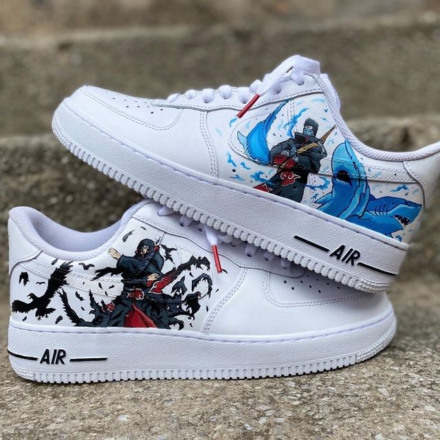 Itachi X Kisame | Personnaliser ses chaussures, Chaussures nike ...