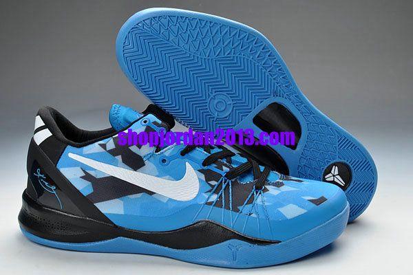 Nike Kobe Bryant 8 Playoff Blue Black Shoes