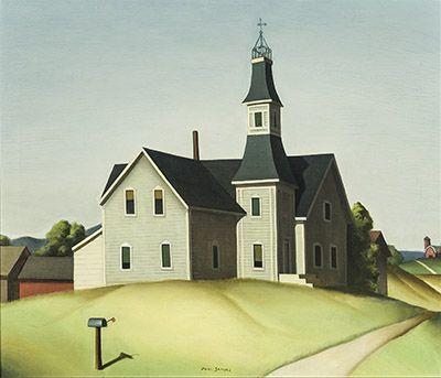 Paul Starrett Sample (1896-1974) Church in Evansville, 1934 Oil on canvas, 24 x 28 in.