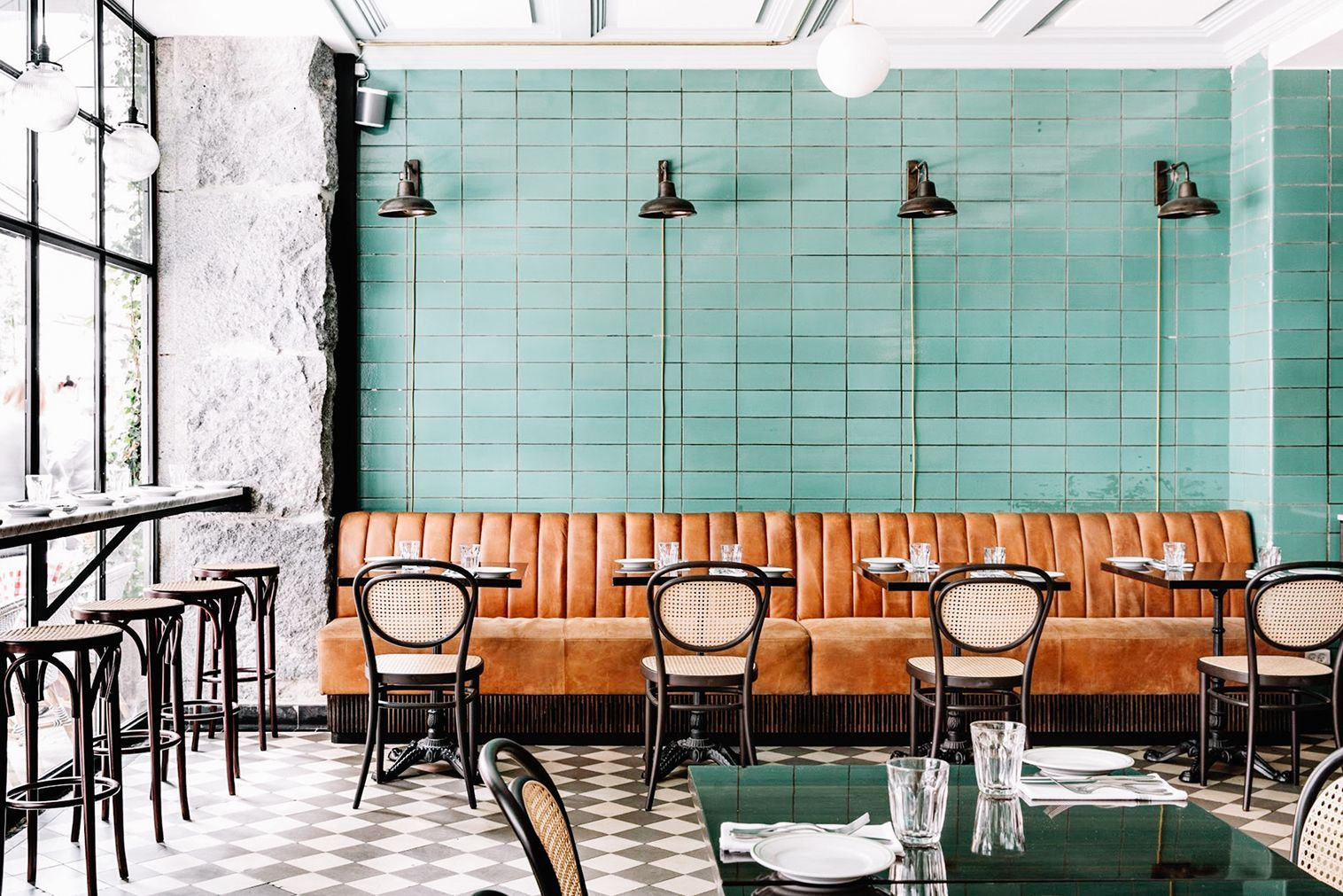 See How This Scandinavian Restaurant Does The Classic Parisian Bistro Restaurantdesign Bistro Interior Restaurant Interior Design Restaurant Design