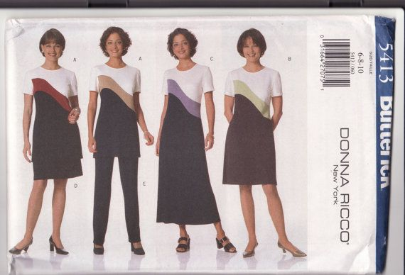 Stretch Knit Pattern Butterick 5413 Misses Dress By Retrochick66