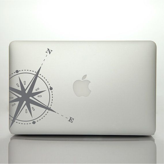 s BIG RED APPLE decal for MACbook sticker - vinyl