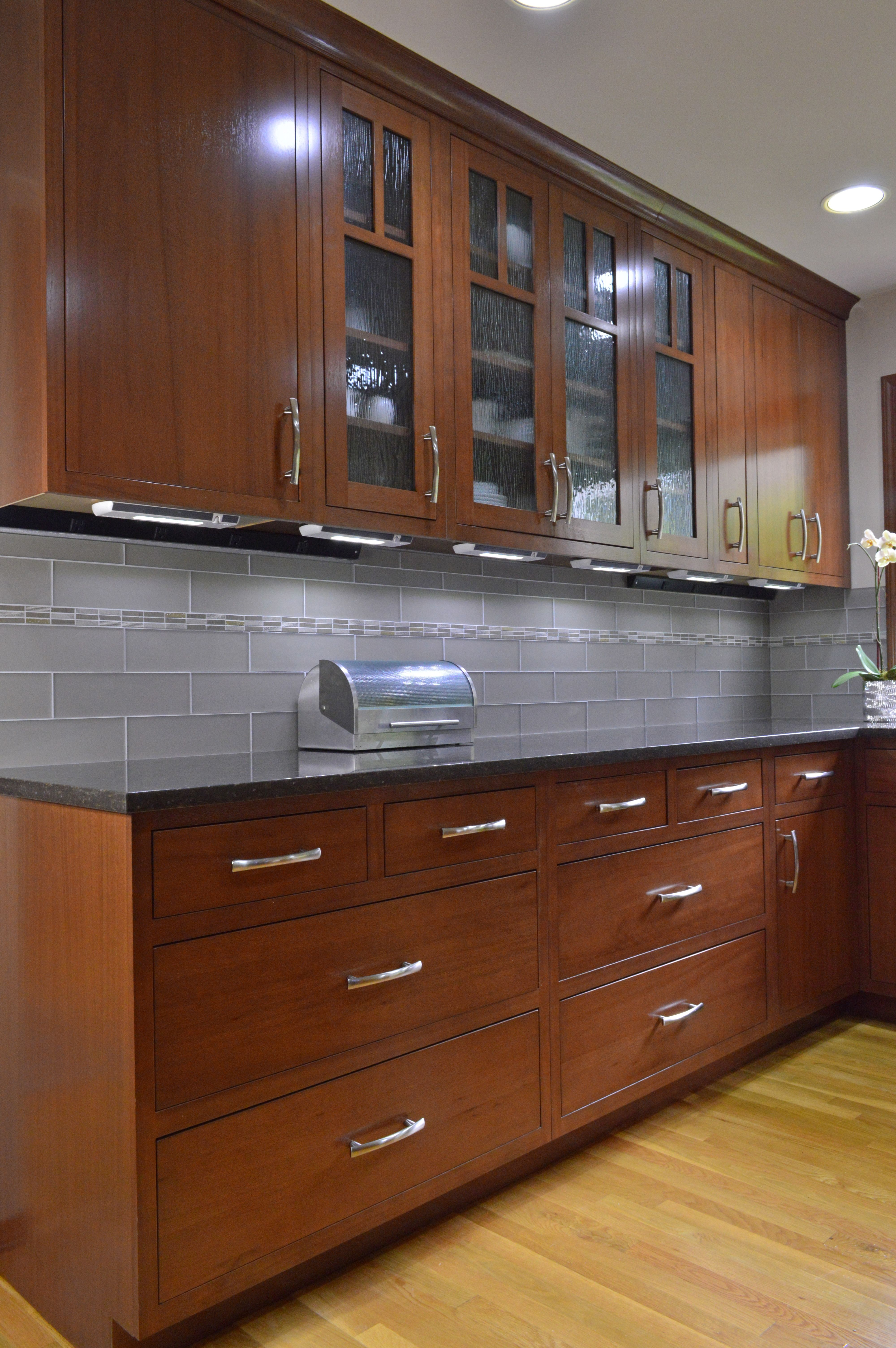 Framed Inset Cabinetry Using Lyptus Wood Kitchen