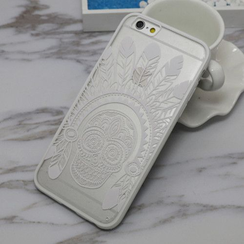 Sexy Lace Floral Paisley Flower Mandala Henna Clear Case For iphone 6 6S Plus 6Plus Phone Cases Fashion Cartoon Back Cover