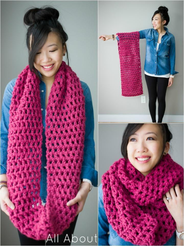 10 Super Chunky Free Crochet Cowl Scarf Patterns | Free Crochet ...