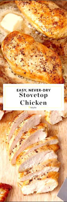 How To Cook Golden, Juicy Chicken Breast on the Stove #chickenbreastrecipeseasy