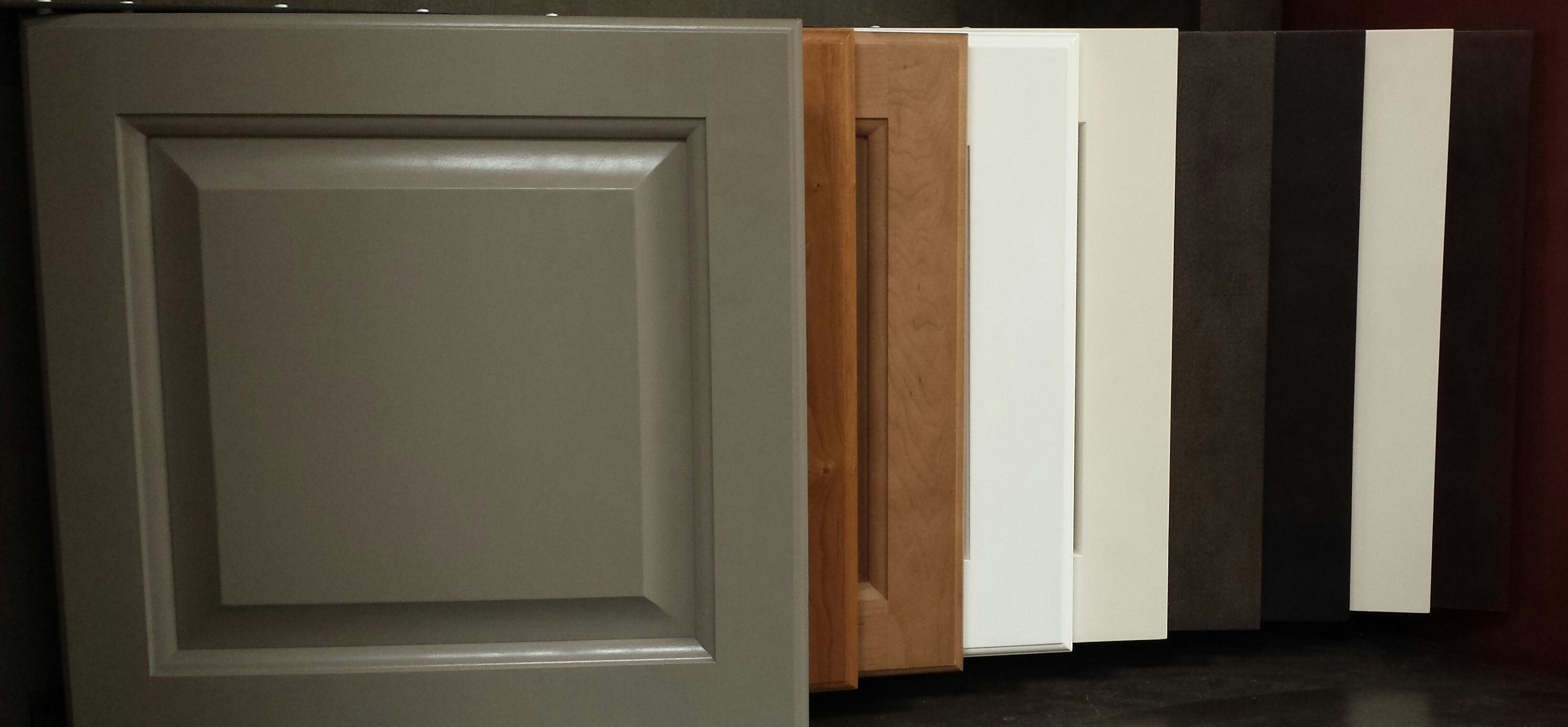 Bottom Row Display of CabCraft Cabinetry here in our showroom.