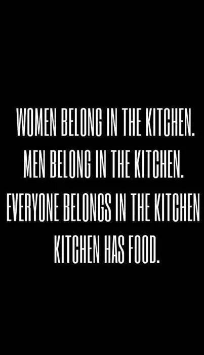 Kitchen has food