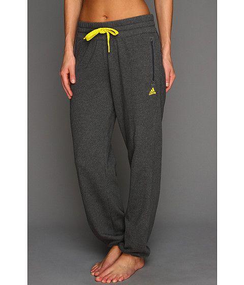 adidas 7 8 pants. adidas boyfriend 7/8 live-in pant dark grey heather/black - zappos 7 8 pants