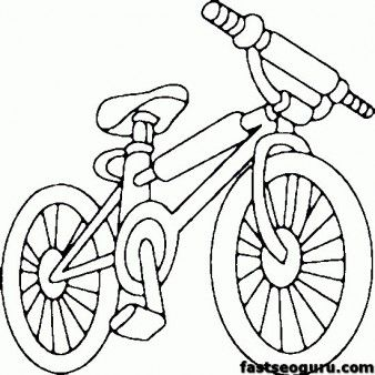 Printable Bike Bmx Coloring Page For Kids Printable Coloring