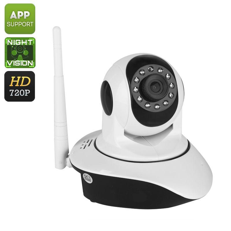Indoor PTZ WiFi Wireless HD IP Camera (720p, Two Way Audio
