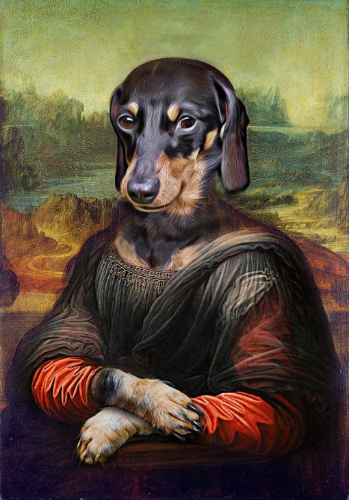 Mona Lisa By Leonardo Da Vinci Dog Portraits Pet Portraits