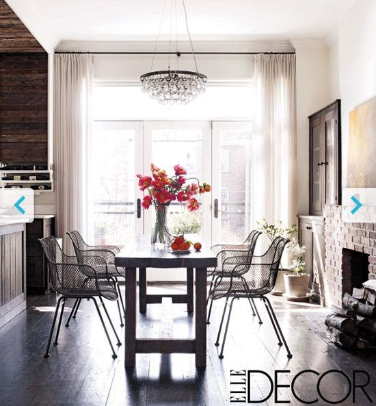 Kerri Russel's Dining Room. Love The Mix Of Rustic, Modern