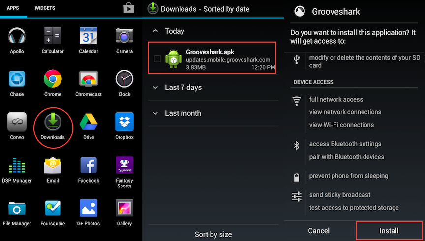 How to install apps outside of Google Play App