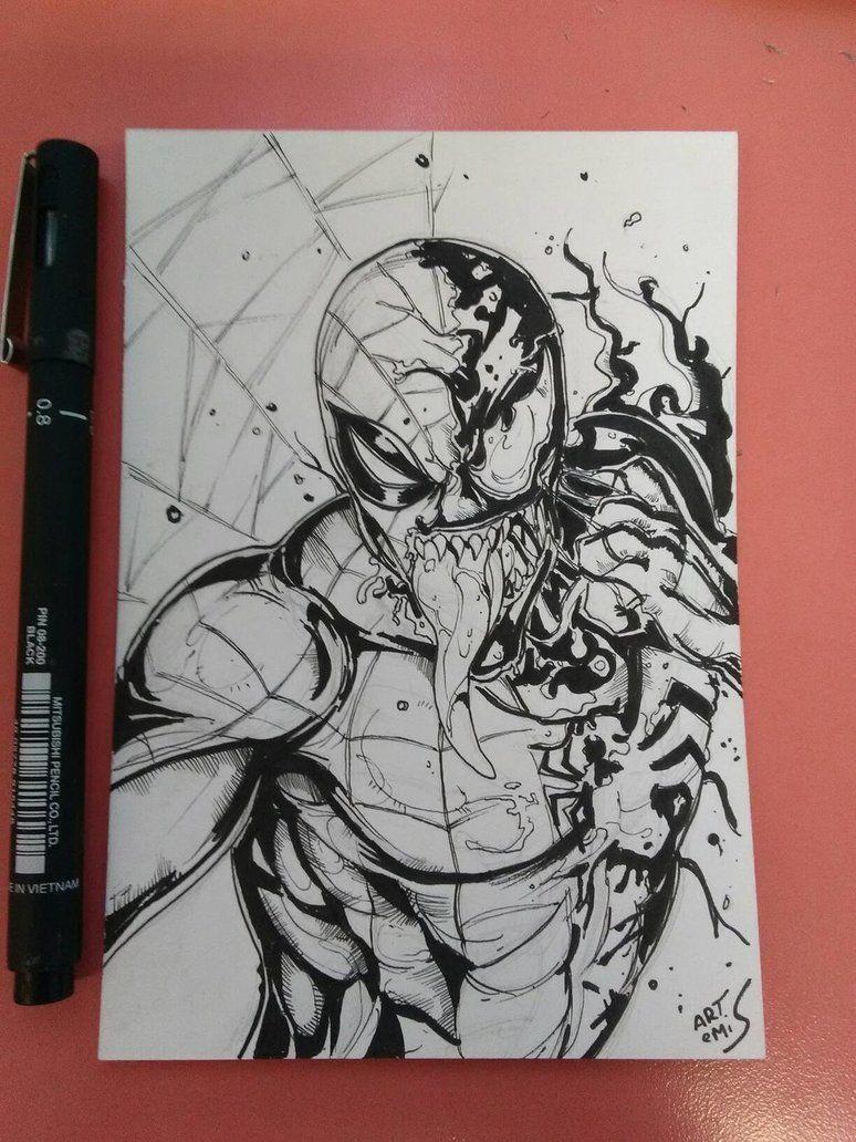 Venom spiderman spider man dessins marvel dessin - Dessin spiderman ...