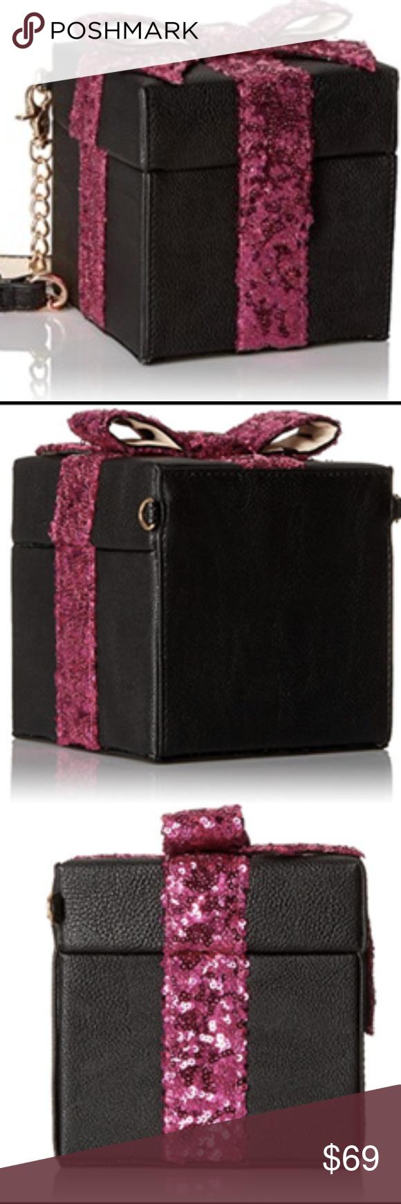 Jual River Island Pink Glitter Mini Cross Body Bag In Lyst Womenamp039s Retro 3 4 Sleeve Denim Slim Bubble T Shirt Dress Thats A Wrap Gift Box Black Sequin Handbag Nwt