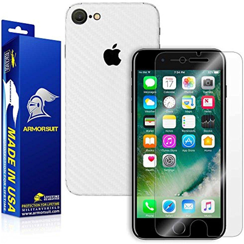 Armorsuit iphone 8 screen protector white carbon fiber