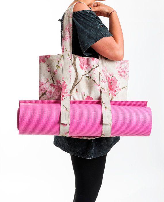 NEW Yoga Mat Bag - Sakura Tote Bag - Yoga Bag- Yoga Accessories ...